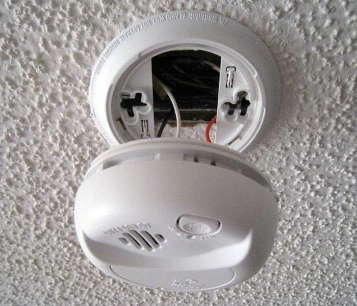 A broken smoke alarm