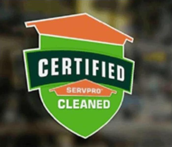 Certified: SERVPRO Cleaned service